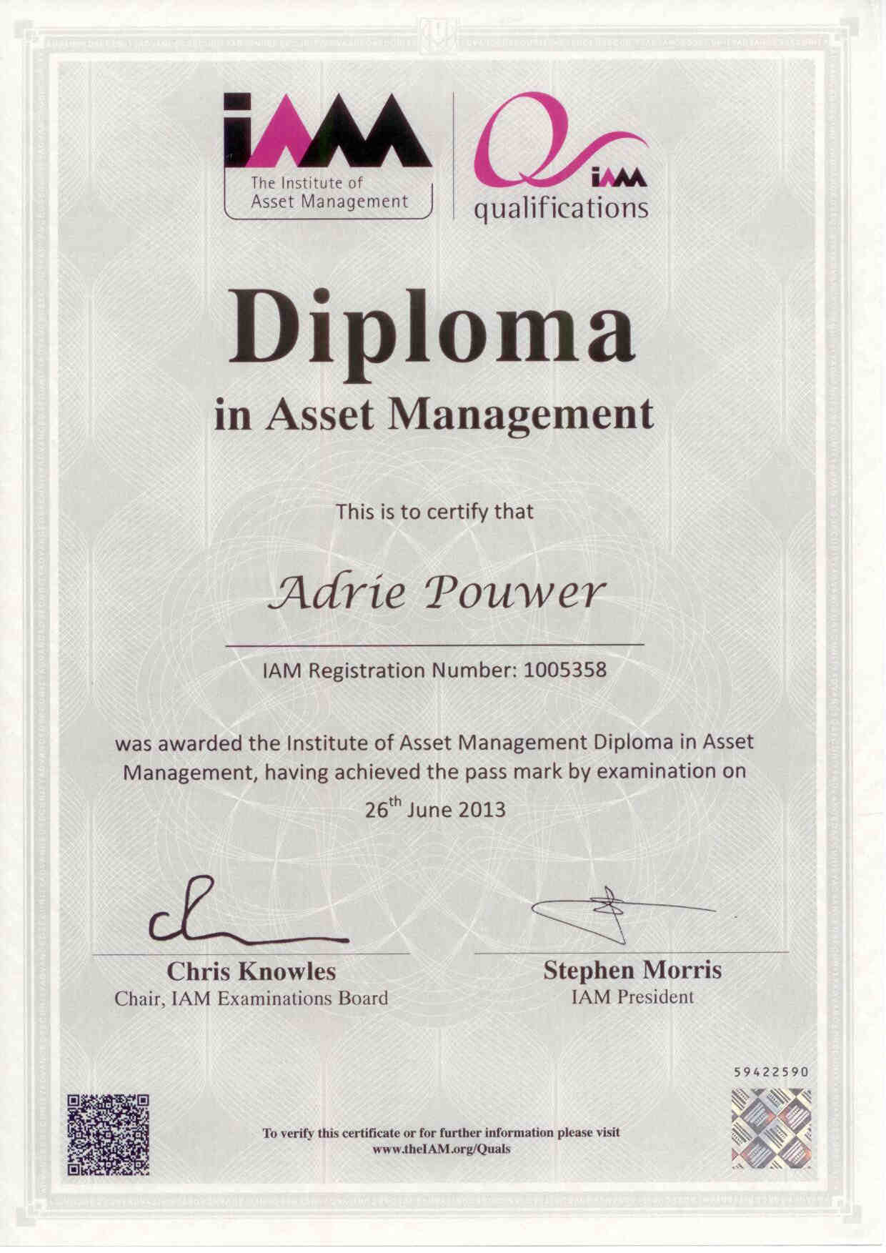 Diploma Asset Management